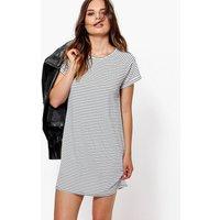 T-Shirt Dress In Stripe Print - multi