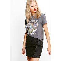 Metallica Washed Out Band T-Shirt - charcoal