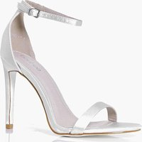 Bridal Satin Glitter Sole Two Part - white