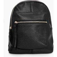 Zip Front Rucksack - black
