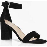 Two Part Block Heel - black