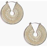 Eastern Intricate Hoop Earrings - gold