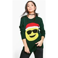 Sunglasses Emoji Christmas Jumper - bottle