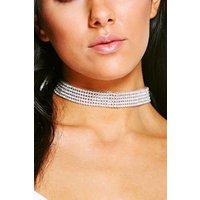 Diamante Bling Choker - silver