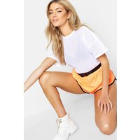 Womens Fit Oversized Mesh Workout Tee - white - 14, White