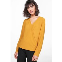 Wrap Over Blouse - mustard