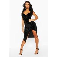 Casey Velvet Wrap Over Strappy Midi Dress