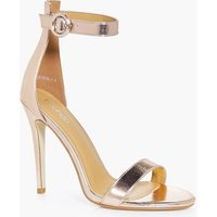 Contrast Two Part Heel - rose gold