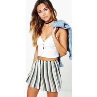 Womens Striped Flippy Shorts - multi - 14, Multi