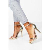 Womens Metallic Single Platform Two Part Heels - metallics - 6, Metallics