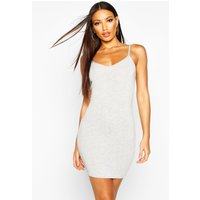 Womens Basic Strappy Cami Bodycon Dress - Grey - 16, Grey
