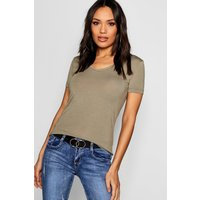 Womens Basic Super Soft V Neck T-Shirt - green - 4, Green