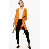 Waterfall Belted Duster - mustard