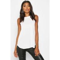 Womens Tall High Neck Strap Top - white - 6, White