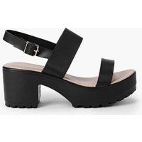 Two Part Cleated Sandal - black