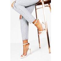Womens Single Platform Two Part Heels - White - 7, White