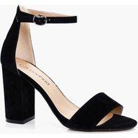 Womens Two Part Block Heels - Black - 4, Black