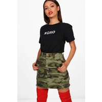 XOXO Slogan T-Shirt - black