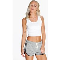 Space Dye Knitted Gym Running Shorts - grey