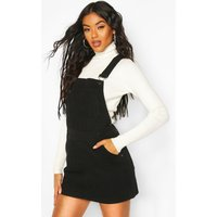 Womens Denim Dungaree Pinafore Dress - black - 10, Black
