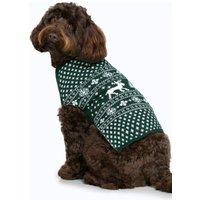 Fairisle Christmas Dog Jumper - bottle green