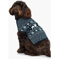 Fairisle Christmas Dog Jumper - navy