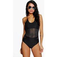 Town Mesh Insert Swimsuit - black