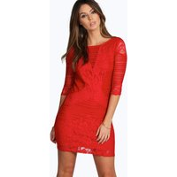 All Over Lace Panelled Bodycon Dress