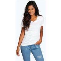 Basic V Neck T-Shirt - white