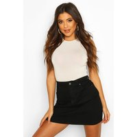 Womens Western Style Denim Mini Skirt - Black - 12, Black