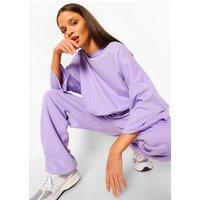 Womens Oversized Slogan Joggers - Purple - 6, Purple