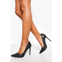 Womens Pointed Court Shoes - Black - 4, Black