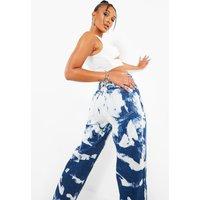 Womens Extreme Bleach Straight Leg Jeans - Blue - 6, Blue
