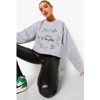Womens Tis The Season Sweatshirt - Grey - M, Grey