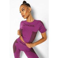 Womens Ofcl Seamfree Contour Active T Shirt - Purple - L, Purple