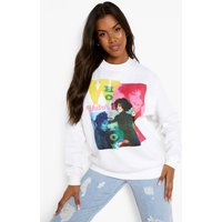 Womens Whitney Houston License Print Sweatshirt - White - Xs, White