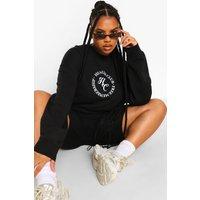 Womens Plus Health Club Sweatshirt - Black - 18, Black