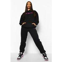 Womens Wellness Hooded Tracksuit - Black - L, Black