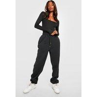 Womens Recycled Sweat Joggers - Black - M, Black