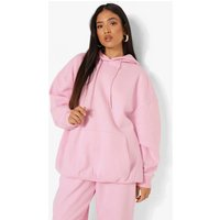 Womens Petite Recycled Oversized Hoodie - Pink - 4, Pink