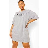 Womens Plus Ye Saint West T-Shirt Dress - Grey - 20, Grey