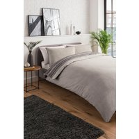 Womens Textured Stripe Double Duvet Set - Brown - One Size, Brown
