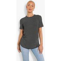 Womens Maternity Stripe Short Sleeve T-Shirt - Black - 8, Black
