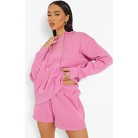Womens Basic Embroidered Jersey Short - Pink - Xl, Pink