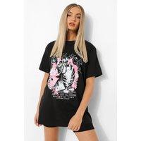 Womens Tiger Print T-Shirt And Cycling Short Set - Black - Xs, Black