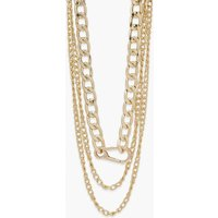 Womens Clip Multi Pack Layered Chain Necklaces - Metallics - One Size, Metallics