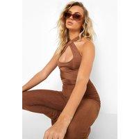 Womens Multi Way Slinky Bodysuit - Brown - 10, Brown
