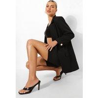 Womens Turn Back Cuff Tailored Blazer - Black - 10, Black
