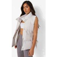 Womens Pocket Detail Gilet - Grey - S, Grey