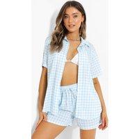 Gingham Short Sleeve Shirt & Shorts Set